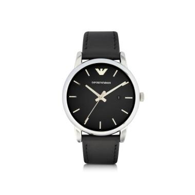 Emporio Armani Signature Dial Men's Leather Strap Watch new 2014