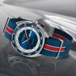 Hamilton Watch Timeless Classic Pan Europ Day-date Blau