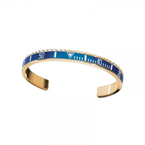 Speedometer Official bracciale GOLD Blue