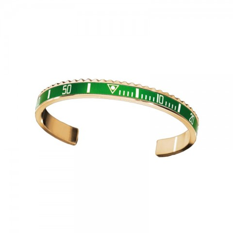 Speedometer Official bracciale GOLD Green