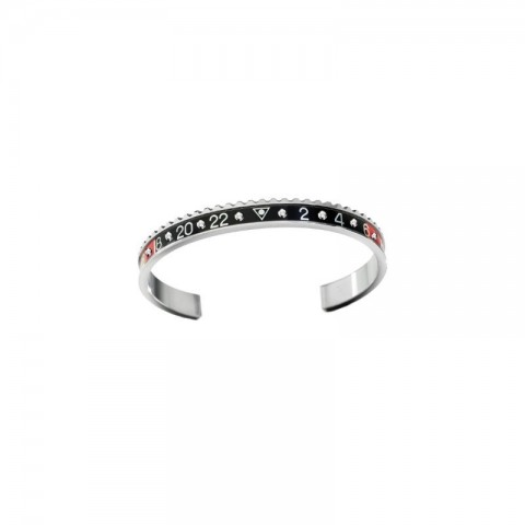 Speedometer official bracelet STEEL RED & BLACK WITH DIAMONDS