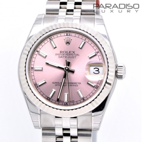 ROLEX DATEJUST 31MM NUOVO/NEW PINK DIAL REF. 178274