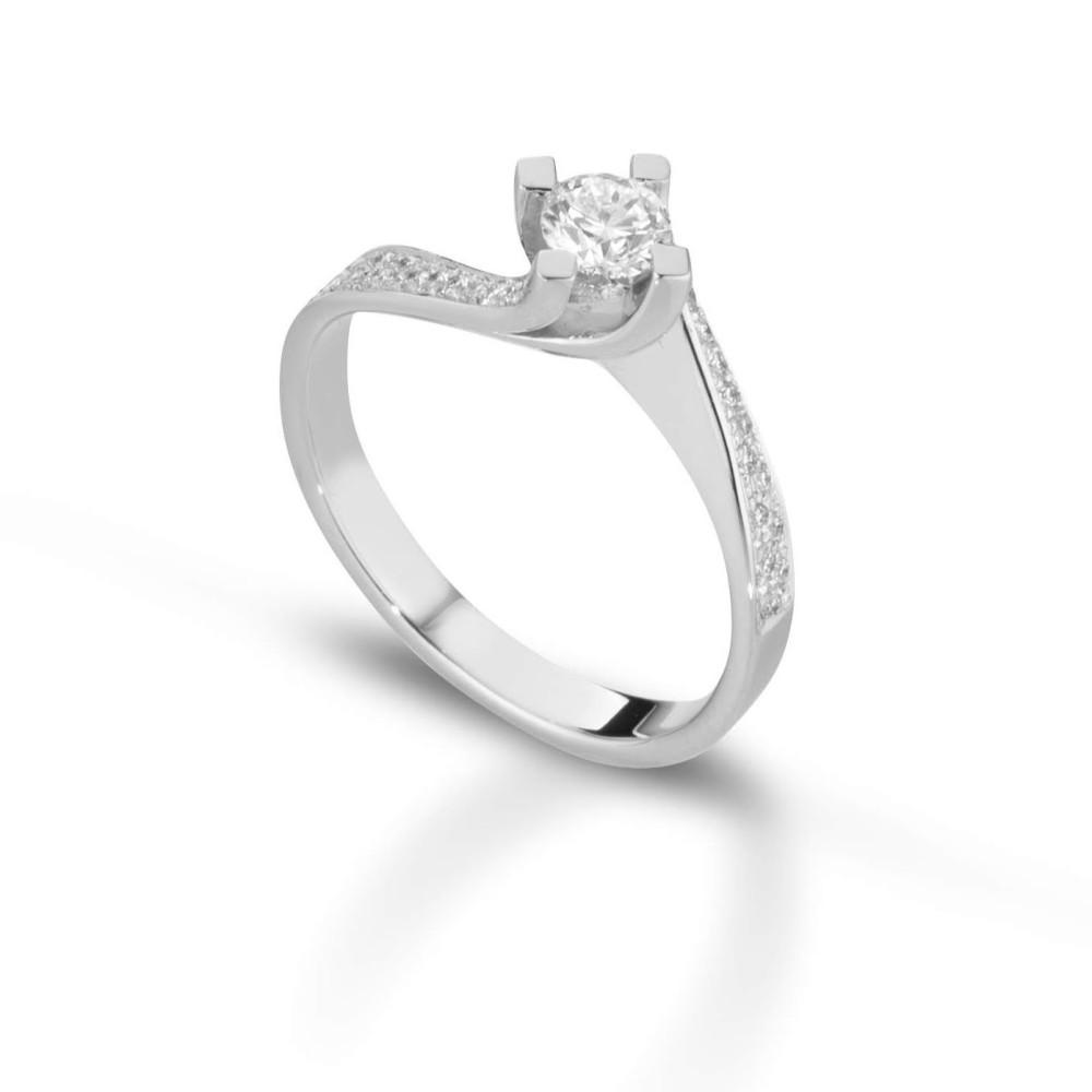 Anello solitario Valori diamanti carati 0,32