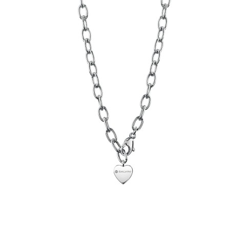 SALVINI SILVER NECKLACE CHARMS OF LOVE WITH DIAMOND