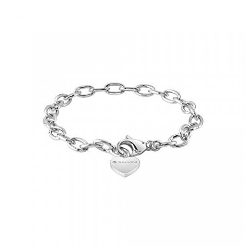 SALVINI SILVER BRACELET CHARMS OF LOVE WITH DIAMOND