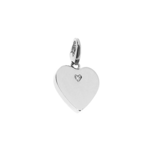 SALVINI SILVER HEART PENDANT CHARMS OF LOVE WITH DIAMOND