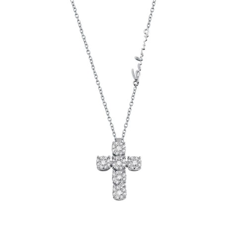 SALVINI WHITE GOLD DAPHNE NECKLACE WITH DIAMONDS
