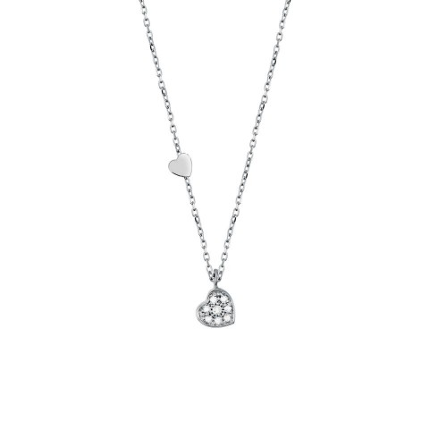 SALVINI BE HAPPY WHITE GOLD NECKLACE WITH DIAMONDS