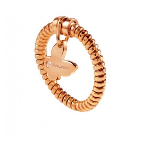 SALVINI ROSE GOLD RING MINIMAL POP WITH DIAMOND