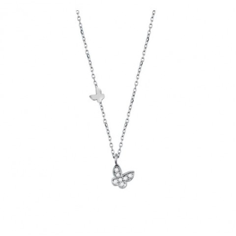 SALVINI WHITE GOLD NECKLACE BE HAPPY WITH DIAMOND