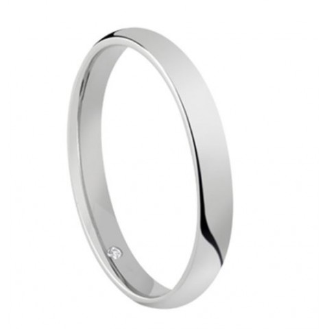 SALVINI WHITE GOLD WEDDING RING SPECIAL DAY
