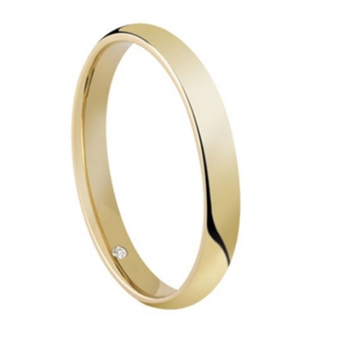 SALVINI YELLOW GOLD WEDDING RING SPECIAL DAY