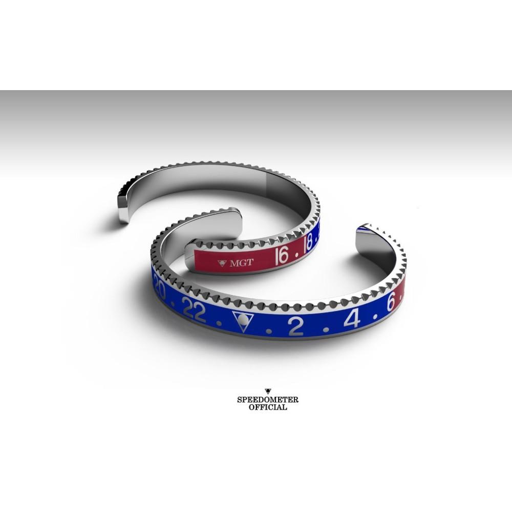 Bracelet Speedometer Official Gmt Blue-Red