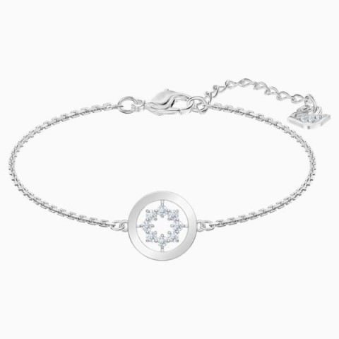 BRACCIALETTO FURTHER CIRCLE, BIANCO, PLACCATURA RODIO 5499003