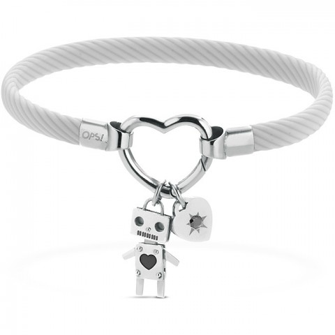 OPS BRACCIALE OPSOBJECTS CLASP EXT GREY SS DONNA OPSBR-608